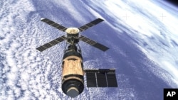 Skylab astronauts had to replace a sun shield that had torn off during launch.