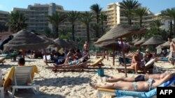 Foto de archivo de la playa de Susa en Túnez.