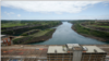 A view of the Itaipu Hydroelectric dam from the Paraguayan side, one the world's largest operational electricity generator which is facing an energy crunch as low river levels hit electricity production, in Hernandarias, Paraguay October 11, 2021.