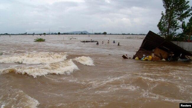 Sông Mekong, đoạn đi qua tỉnh An Giang, Việt Nam.