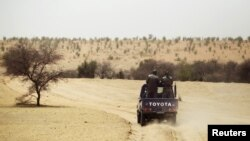 Patrouille de la gendarmerie mauritanienne.