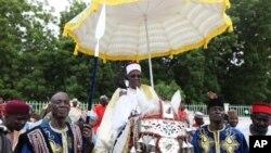 Shehun Borno yayi hawan sallah.