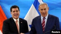 Президент Парагваю Орасіо Картес і Біньямін Нетаньягу в Єрусалимі