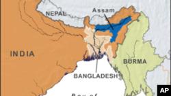 Letak wilayah Assam, India.