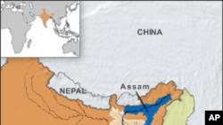 Kekerasan antar etnis merebak di negara bagian Assam, India Timur sejak Jum'at pekan lalu (Foto: peta wilayah negara bagian Assam)