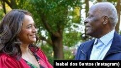 Isabel dos Santos e o pai José Eduardo dos Santos
