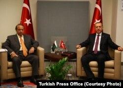 Cumhurbaşkanı Erdoğan, Pakistan Başbakanı Navaz Şerif'le