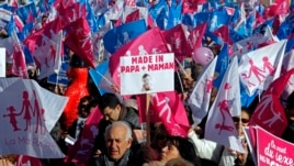 Opponents to gay marriage, adoption and procreation assistance attend a demonstration in Marseille February 2, 2013.