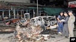 انفجار های پی در پی در مناطق مسلمان نشین تایلند