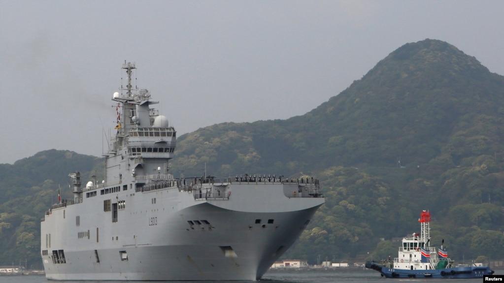 Tàu đổ bộ của Pháp đã tới căn cứ hải quân của Nhật ở Sasebo, Nagasaki, để chuẩn bị cho cuộc tập trận chung với Mỹ, Anh và Nhật ngoài khơi đảo Guam.