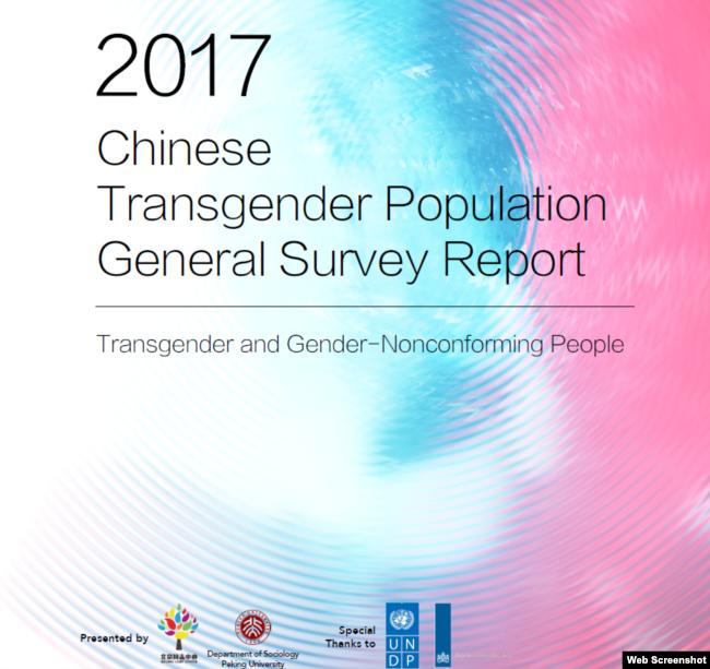 《2017中國跨性別群體生存現狀調查報告》封面(北京同誌中心)