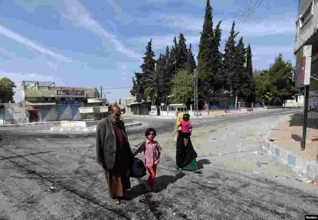 Suriya - Döyüşlərin getdiyi Təl Abyad şəhərinin sakinləri