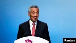 Thủ tướng Singapore Lý Hiển Long phái biểu khai mạc Hội nghị Thượng đỉnh ASEAN lần thứ 33 ở Singapore, ngày 13 tháng 11, 2018
