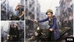 """عکسهایی که خبرگزاری ایرنا از غرفه """"مدافعان حرم"""" منتشر کرده است."""