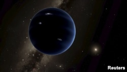 "An artist's rendering shows the distant view from ""Planet Nine"" back towards the sun, in this handout photo provided by the California Institute of Technology (Caltech) in Pasadena, California, Jan. 20, 2016."