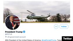 Twitter'da ABD başkanlarının kullandığı resmi hesap