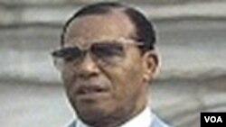 "Louis Farrakhan, umuyobozi w'umuryango wo muri Amerika witwa ""Nation of Islam"""