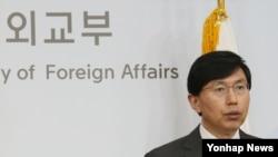 南韓外交部發言人趙俊赫在記者會未有評論事件