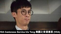 香港本土派青年新政梁頌恆 (Photo: 美國之音湯惠芸)