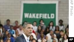 奥巴马总统回答学生提问