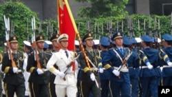 中国军队三军仪仗队(资料照片)