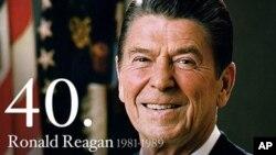 美国第二40位总统里根(1981年-1989年在任)