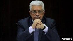 Le président palestinien Mahmoud Abbas à Ramallah le 28 juillet 2013.