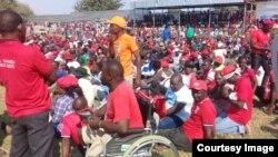 Abalandeli bebandla leMDC-T ekhokhelwa nguMnu. Nelson Chamisa.