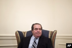 FILE - Supreme Court Justice Antonin Scalia.
