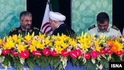 حسن روحانی در جمع فرماندهان نظامی ایران