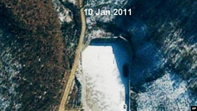 Satellite view of launch site