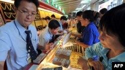 Một cửa hàng vàng ở Bangkok, Thái Lan.