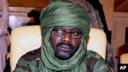 A 2009 file photo of Sudanese rebel Justice and Equality Movement (JEM) leader Khalil Ibrahim during a Darfur peace meeting in Doha, Qatar