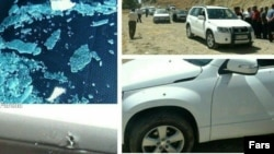 ماشین مسئولان اسلام آباد غرب و دالاهو که مورد حمله قرار گرفت