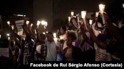 Manifestation de soutien de militants en Angola, novembre (Facebook - Rui Sérgio Afonso)