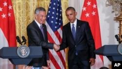 Shugaban Obama da Farai ministan Singapore