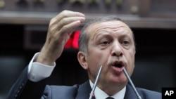 FILE - Turkish Prime Minister Recep Tayyip Erdogan.