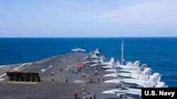卡爾文森號航母2018年2月10日在南中國海巡邏 (美國海軍照片)