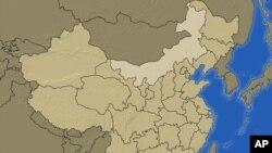 中国地图北部浅色地区为内蒙古