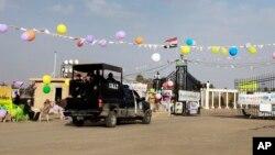 ورودی کمپ اشرف در شمال بغداد که سالها محل استقرار نیروهای سازمان مجاهدین خلق بود.