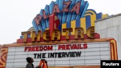 "Plaza Theatre showed the movie ""The Interview"" beginning Christmas Day in Atlanta, Georgia December 23, 2014."