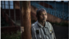Ibrahima Diallo, photographié au stade national où il a été piétiné en essayant de s'échapper pendant le massacre du 28 septembre 2009. Crédit FIDH/Tommy Trenchard