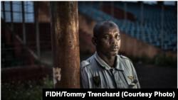 Ibrahima Diallo a été piétiné en essayant de s'échapper pendant le massacre du 28 septembre 2009 au stade national. Crédit FIDH/Tommy Trenchard