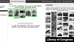 """A screenshot of the new Newspaper Navigator tool shows an image search for """"titanic."""""""