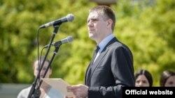 Ministar vanjiskih poslova i evropskih integracija Crne Gore Igor Lukšić govori na ceremoniji povodom obeležavanja Dana Evrope (Autor: Ministarstvo vanjskih poslova i evropskih integracija)