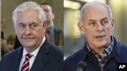Šef američke diplomatije, Reks Tilerson (levo) i sekretar za unutrašnju bezbednost Džon Keli