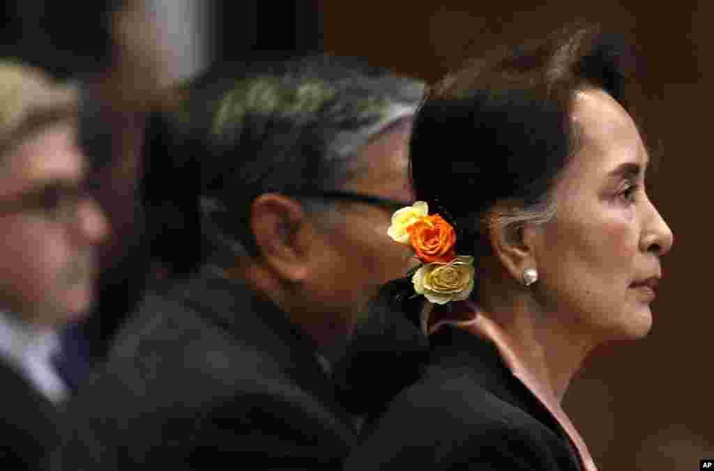 APTOPIX Netherlands International Court Rohingya