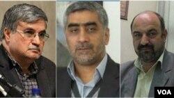 سه مقام سابق قضایی، حسن تردست، عبدالرضا محبتی و رضا جعفری