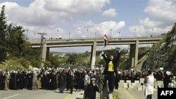 Žene su održale anti-vladine demonstracije u Baniasu, 13. aprila 2011.
