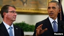 美國總統奧巴馬和國防部長卡特。(資料圖片)
